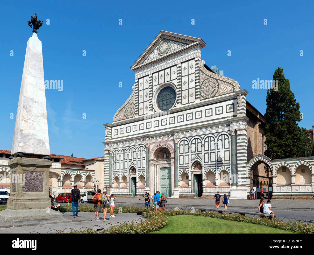 The Church of Santa Maria Novella, Florence, Italy. - Stock Image
