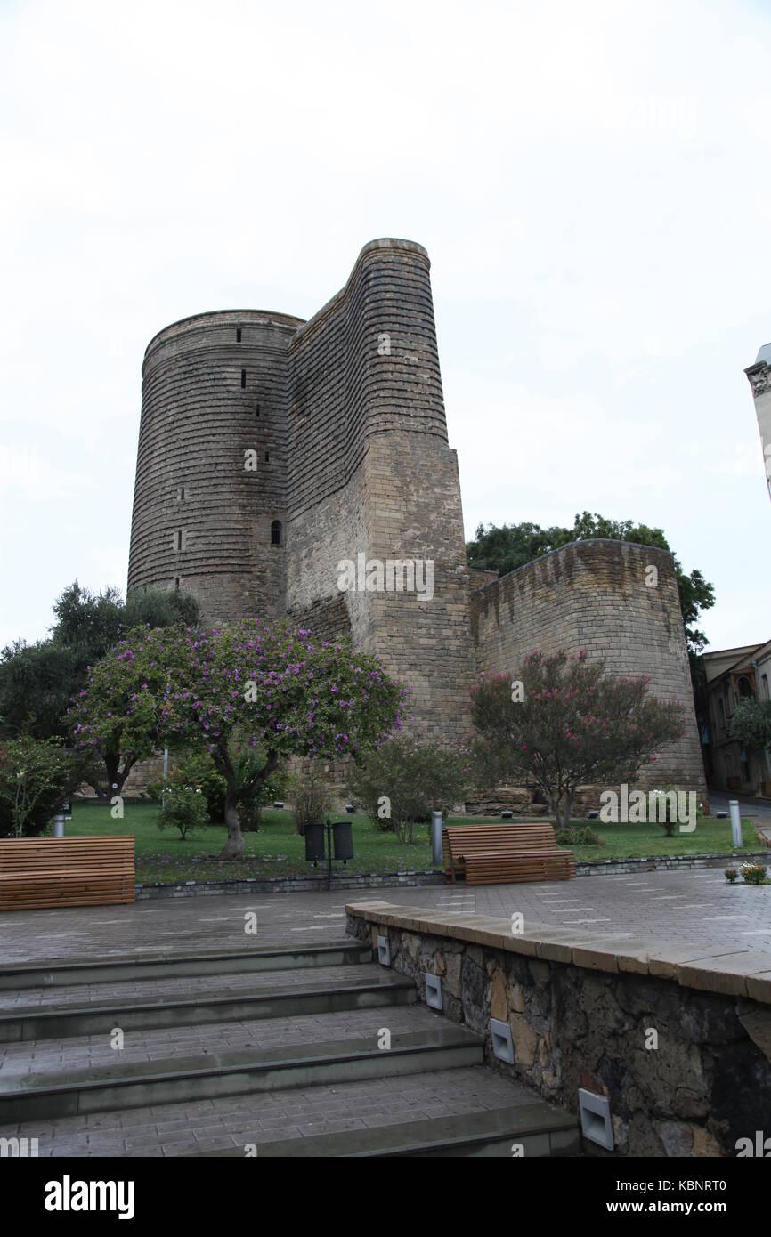 Azerbaijan. Baku. Maiden Tower - Stock Image
