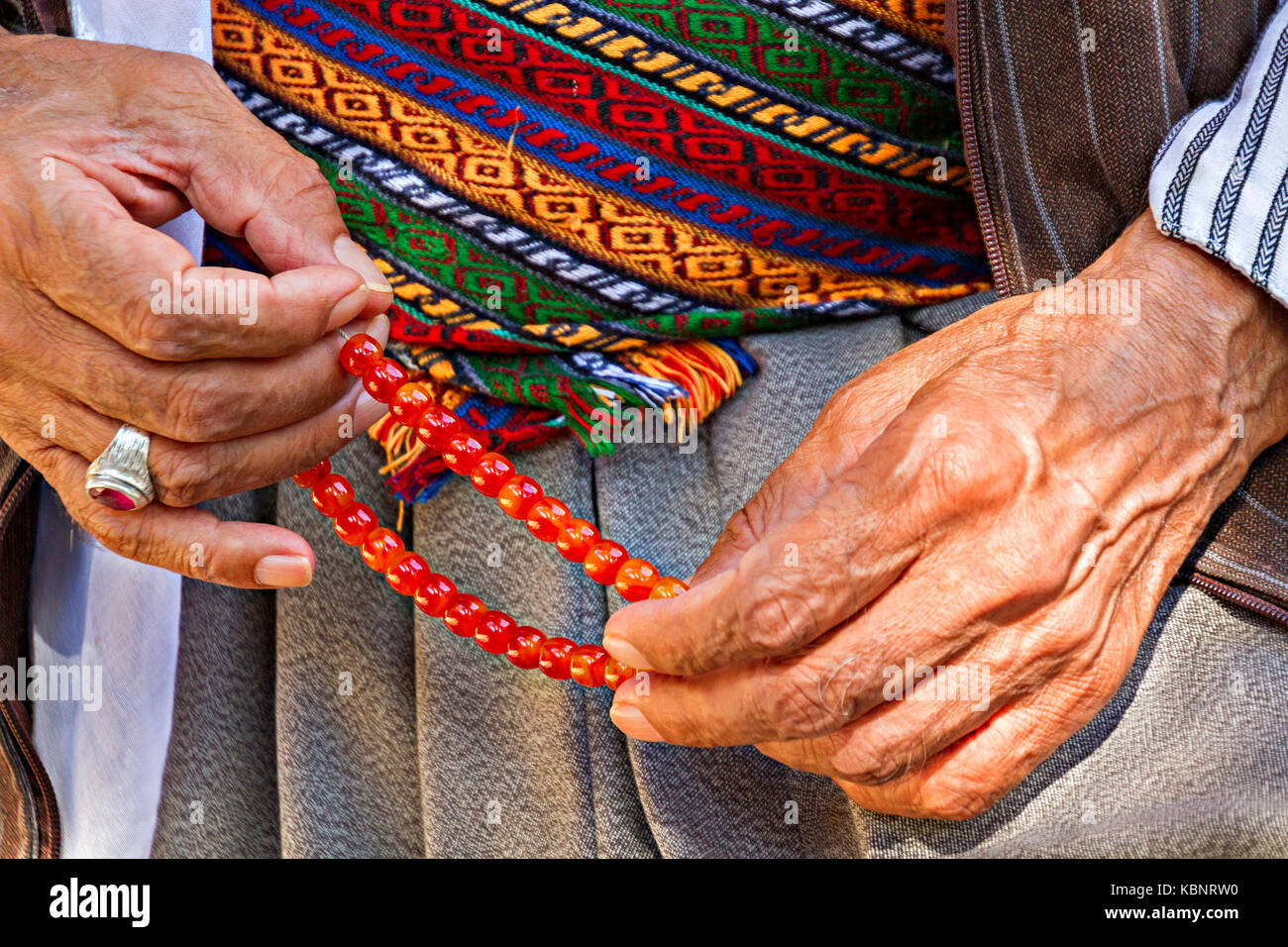 Worry Beads In Hands