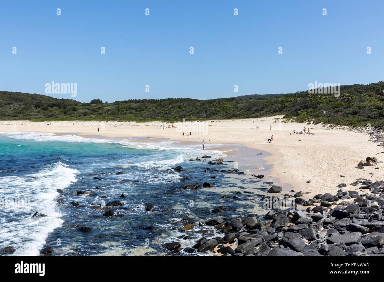 Cellito beach at Sandbar on the mid north coast of new south wales,australia - Stock Image