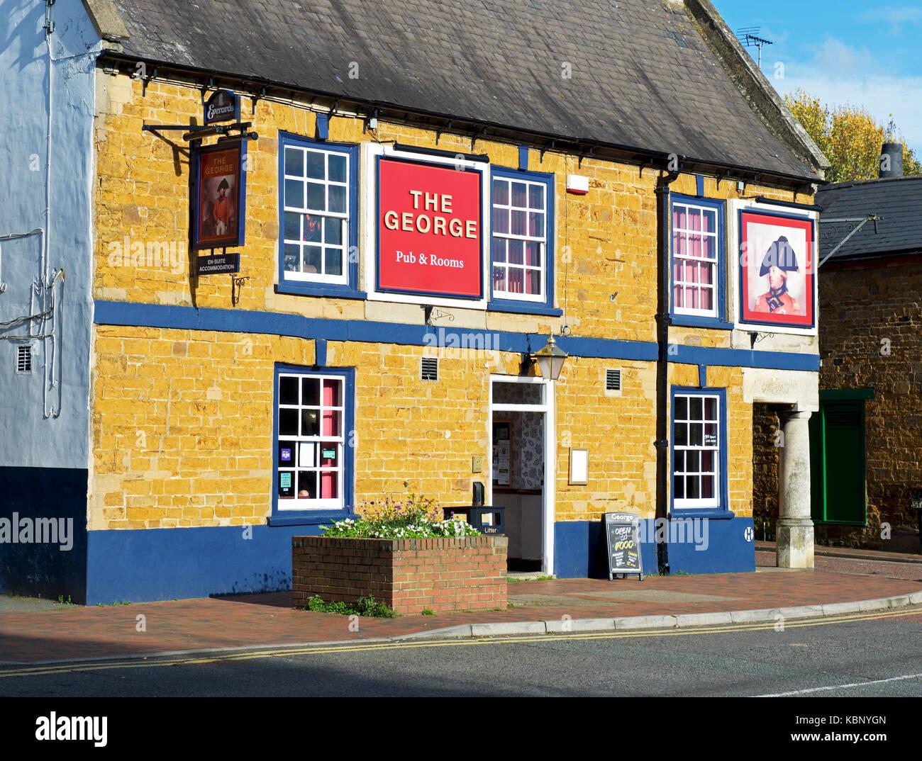 The George pub, Desborough, Northamptonshire, England UK - Stock Image
