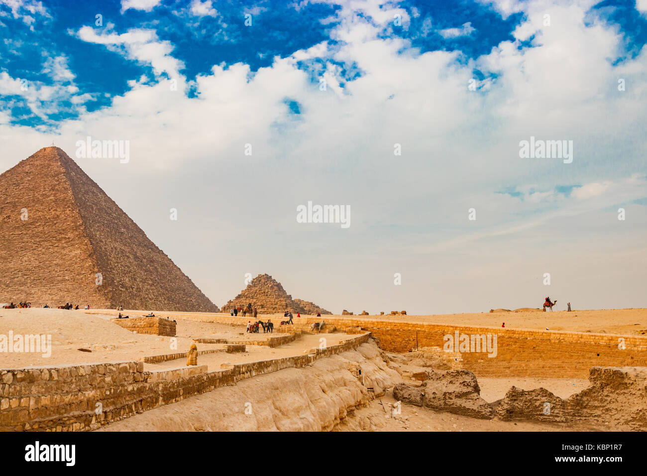 The ancient pyramid in Cairo, Egypt - Stock Image