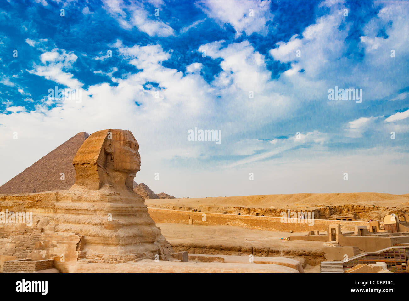The sphinx in Cairo, Egypt - Stock Image