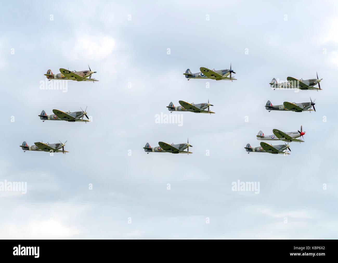 Air Show WW2 Planes - Stock Image