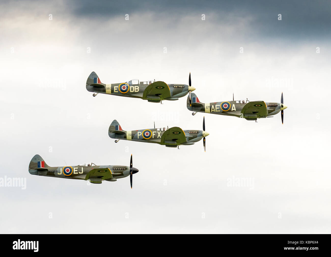 Air Show WW2 Planes - Stock Image