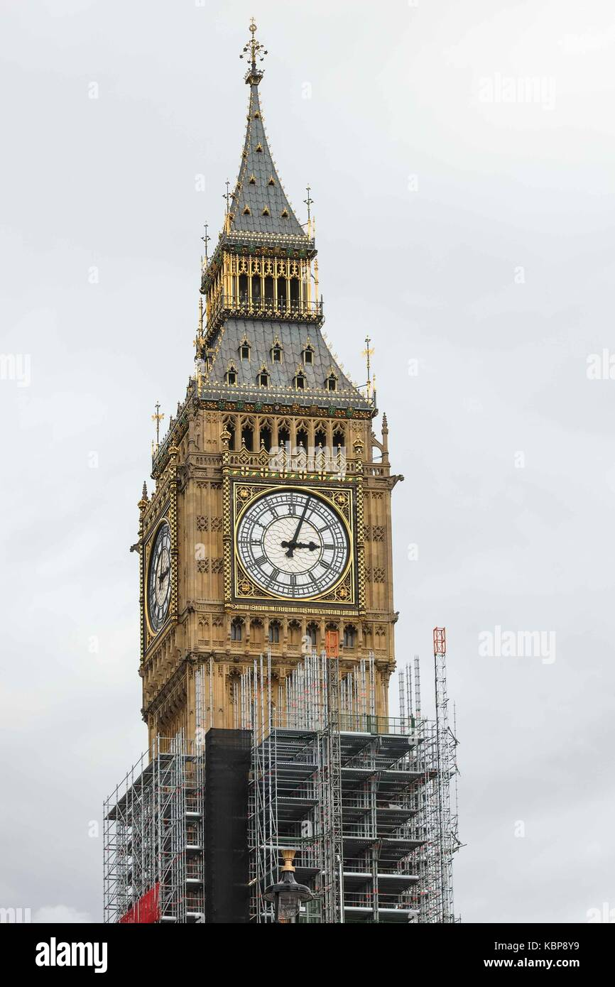London, UK. 30th Sep, 2017. A new report released by parliament states the repair costs for the Elizabeth Tower Stock Photo