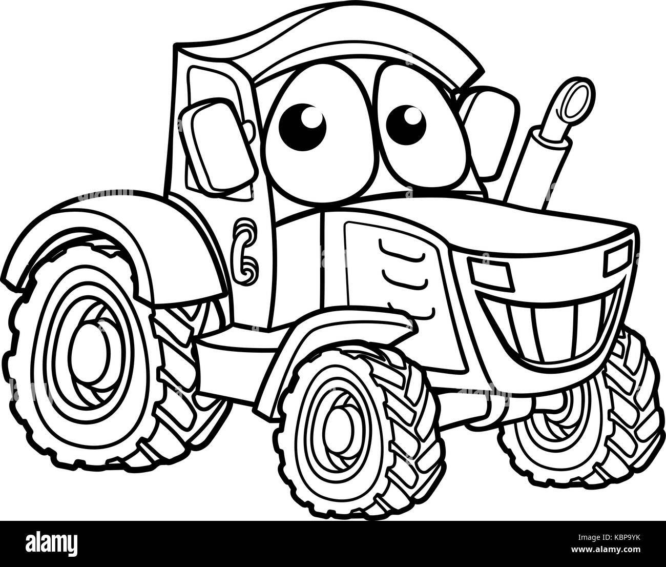 Tractor Cartoon Picker : Combine harvester black and white stock photos images