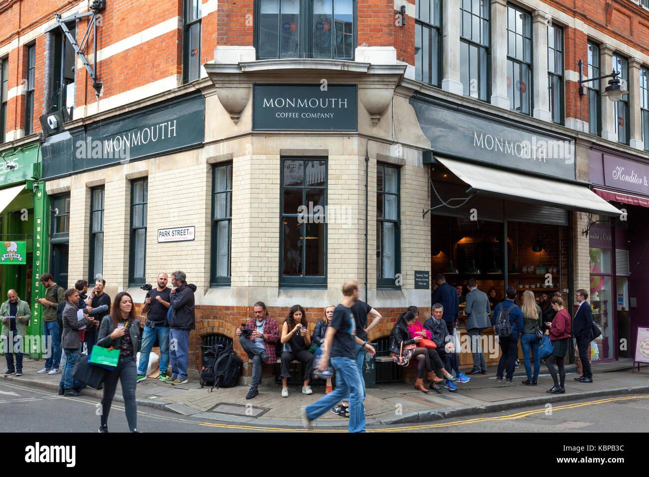 The Monmouth Coffee Company, Borough Market, London, England, U.K. - Stock Image