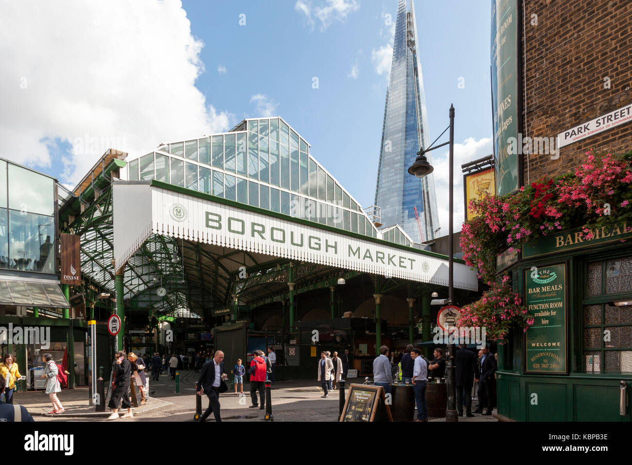 Borough Market, London, England, U.K. - Stock Image