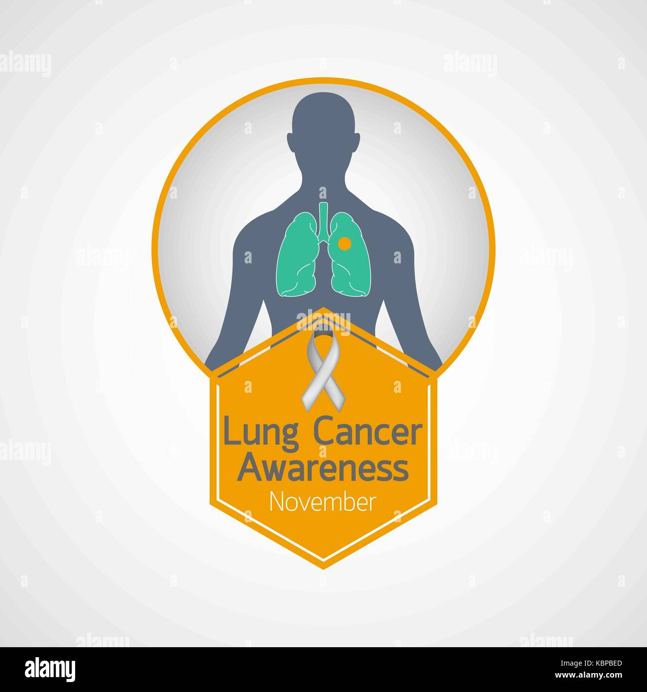 Lung Cancer Awareness Month vector icon illustration - Stock Vector