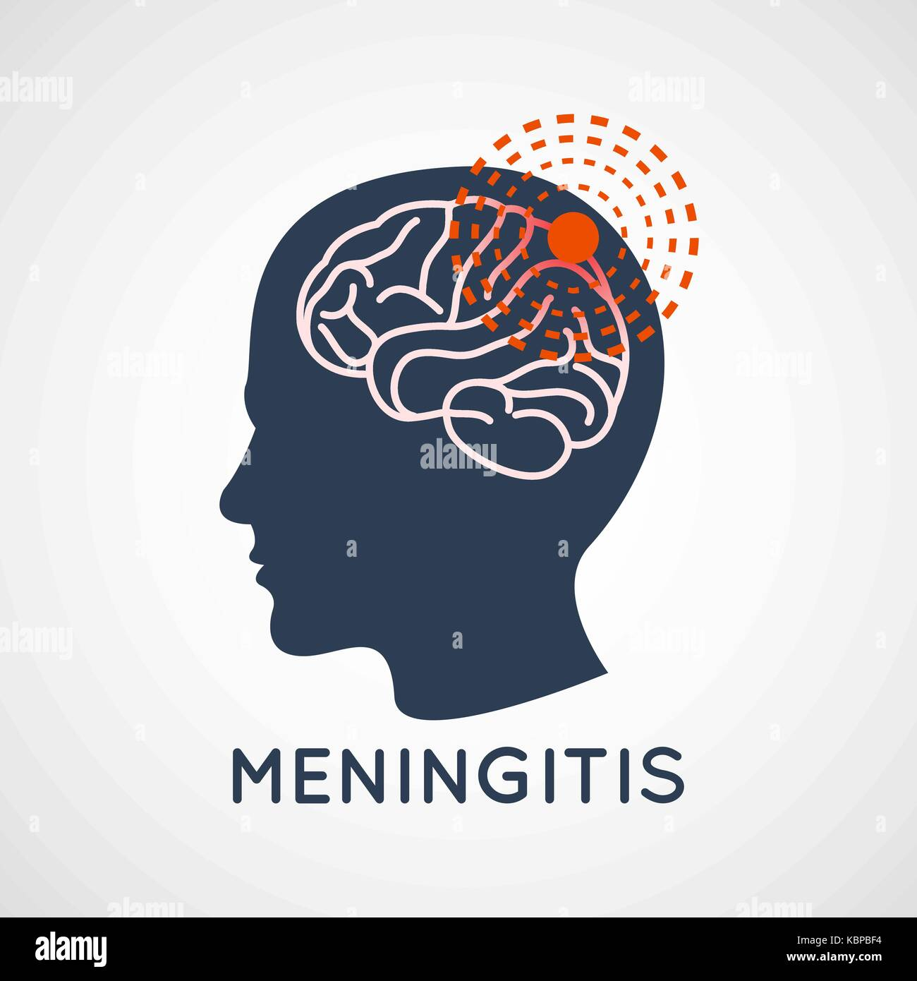 MENINGITIS logo vector icon design illustration - Stock Image