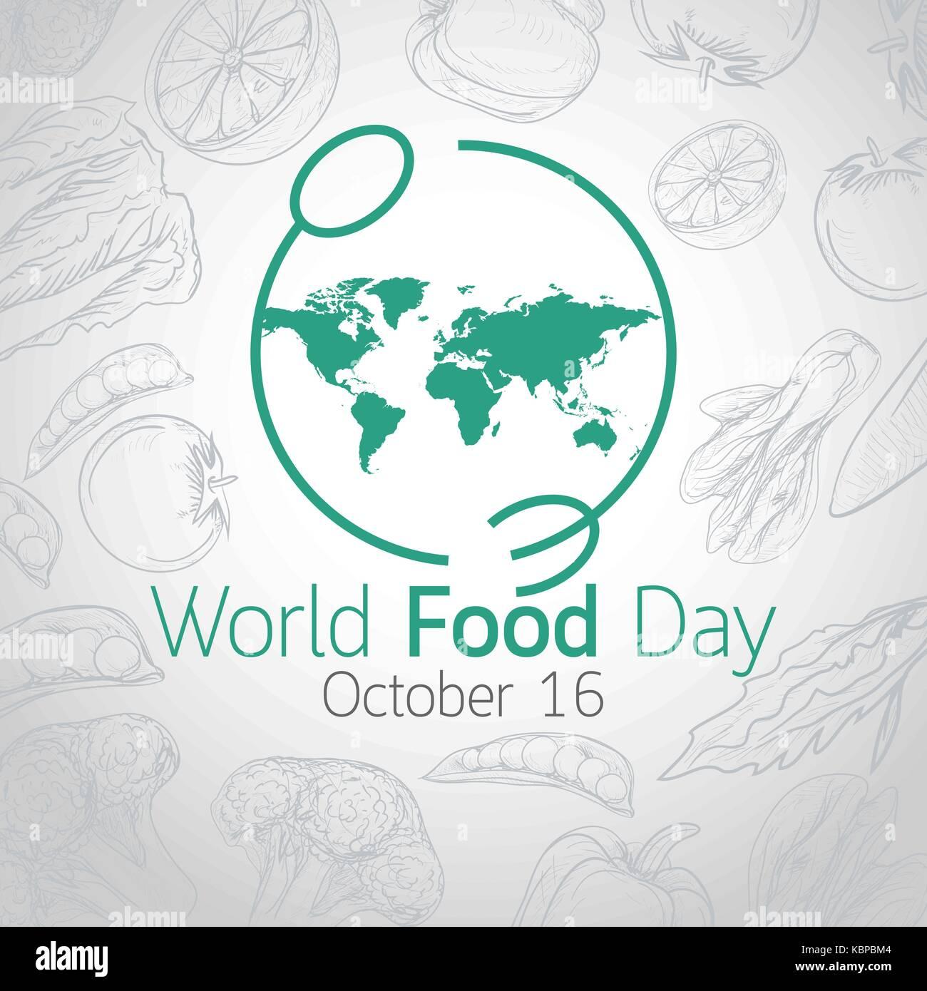 World Food Day vector icon illustration - Stock Image