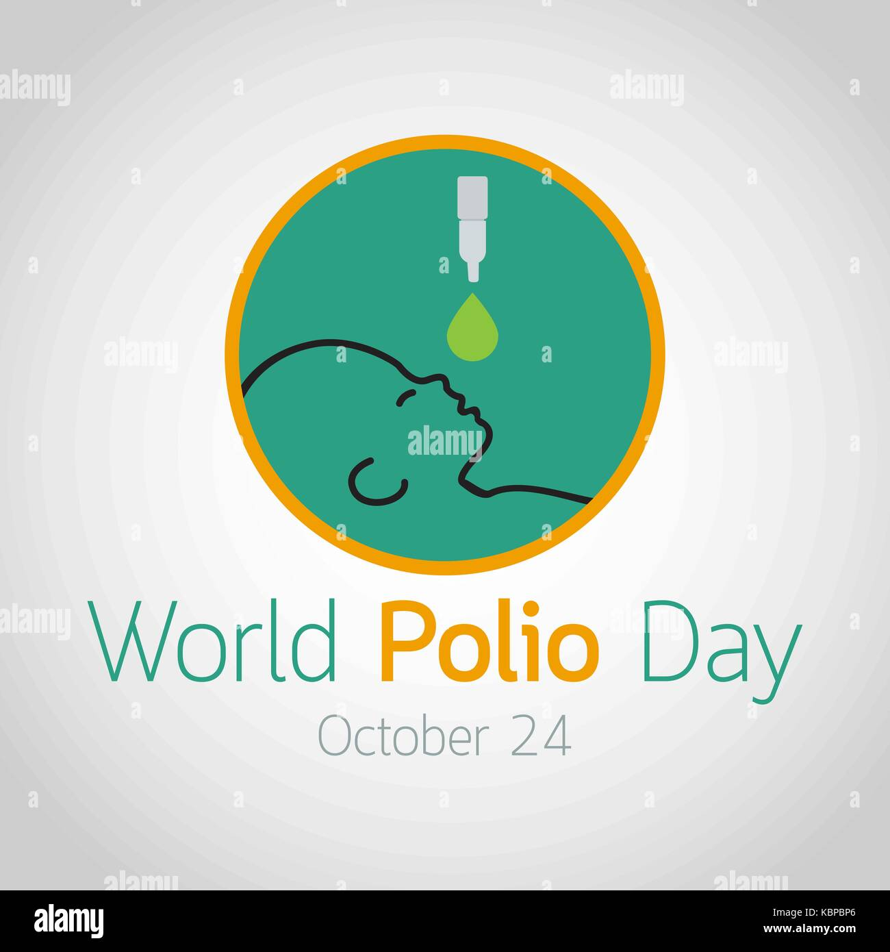 World Polio Day vector icon illustration - Stock Image