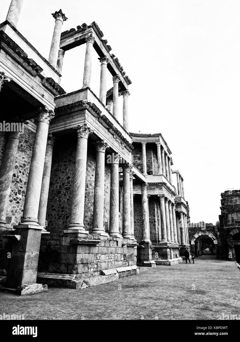 Teatro romano. Mérida. Badajoz. Extremadura. España - Stock Image
