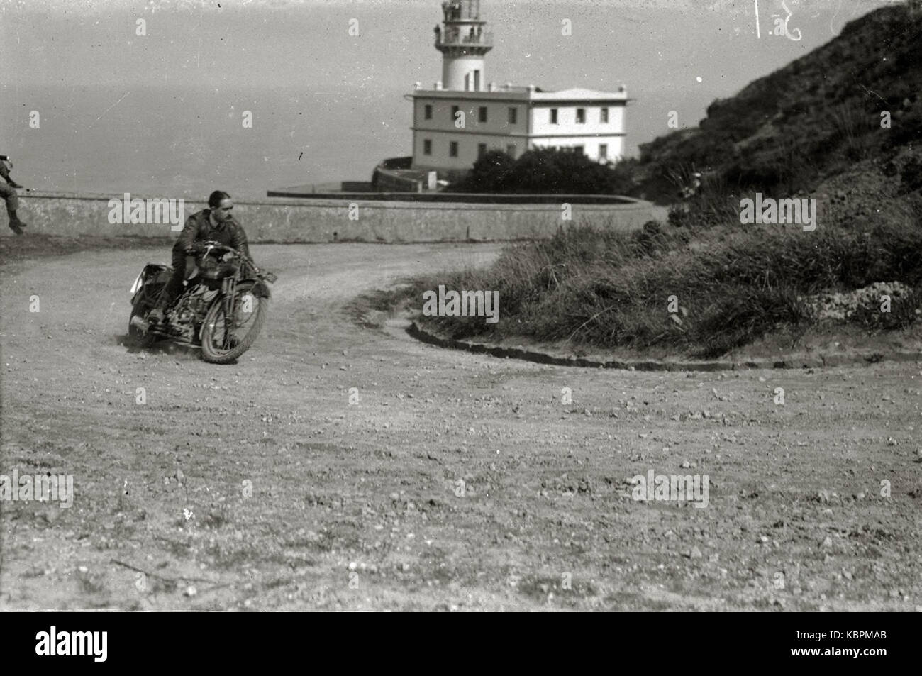 Motociclismo por el Paseo del Faro (5 de 6)   Fondo Car Kutxa Fototeka Stock Photo