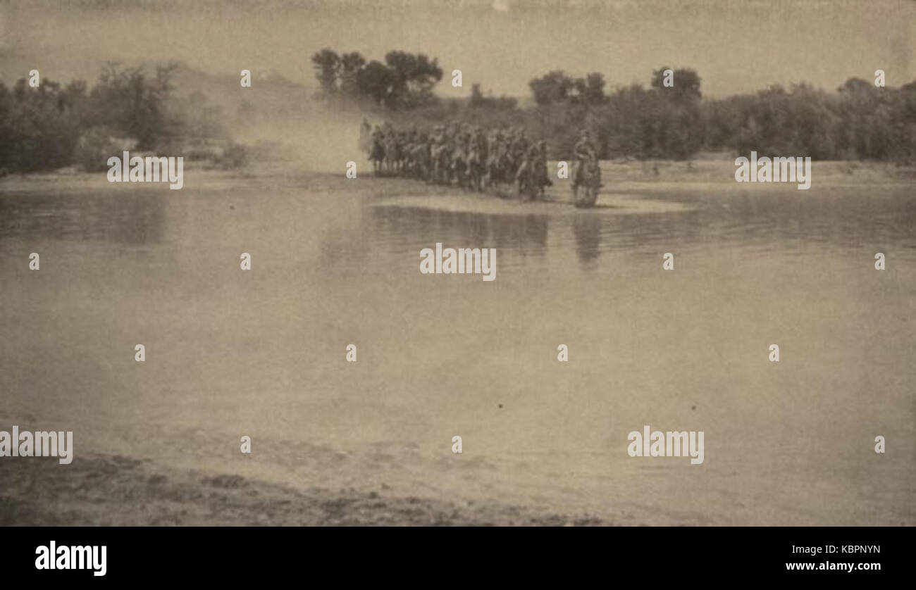 8th Cavalry Regiment Crossing Rio Grande   1919 Munceys Mag Stock Photo