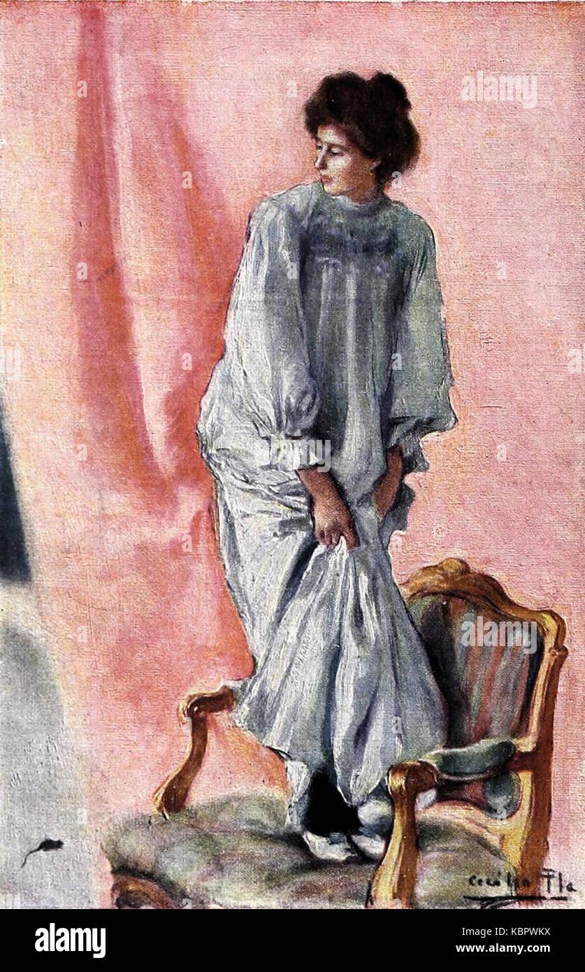 Terrores femeniles, de Cecilio Pla, Blanco y Negro, 19 10 1901 (cropped)Stock Photo