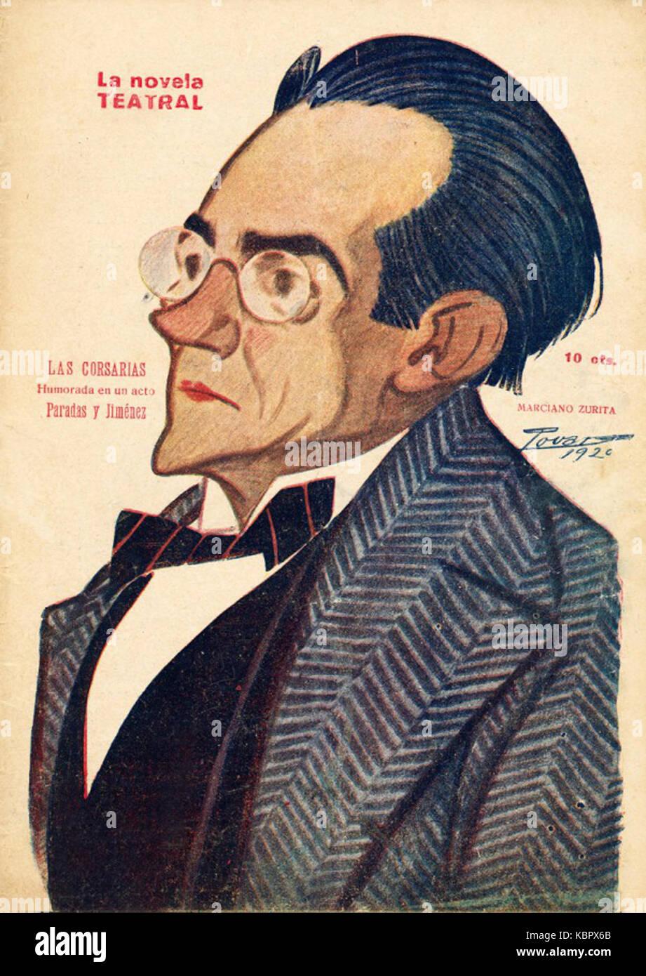 1920 02 29, La Novela Teatral, Marciano Zurita, Tovar - Stock Image
