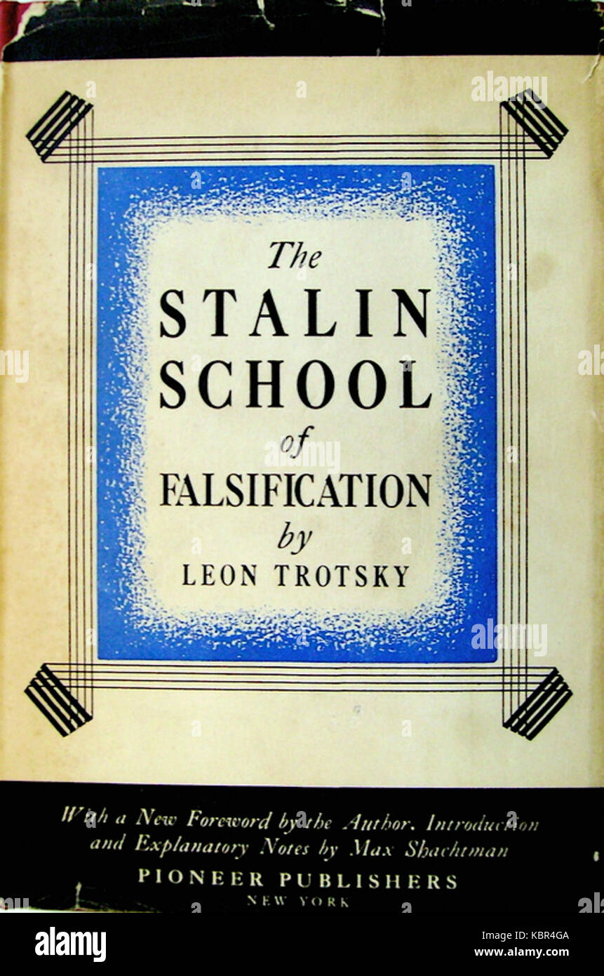 Trotsky   The Stalin school of falsification (cover, 1930) - Stock Image