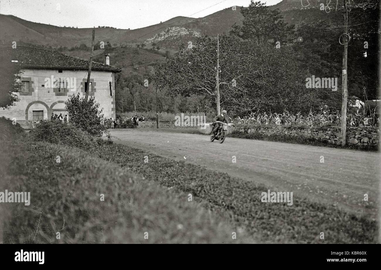 Prueba motociclista en Andoain (1 de 2)   Fondo Car Kutxa Fototeka Stock Photo