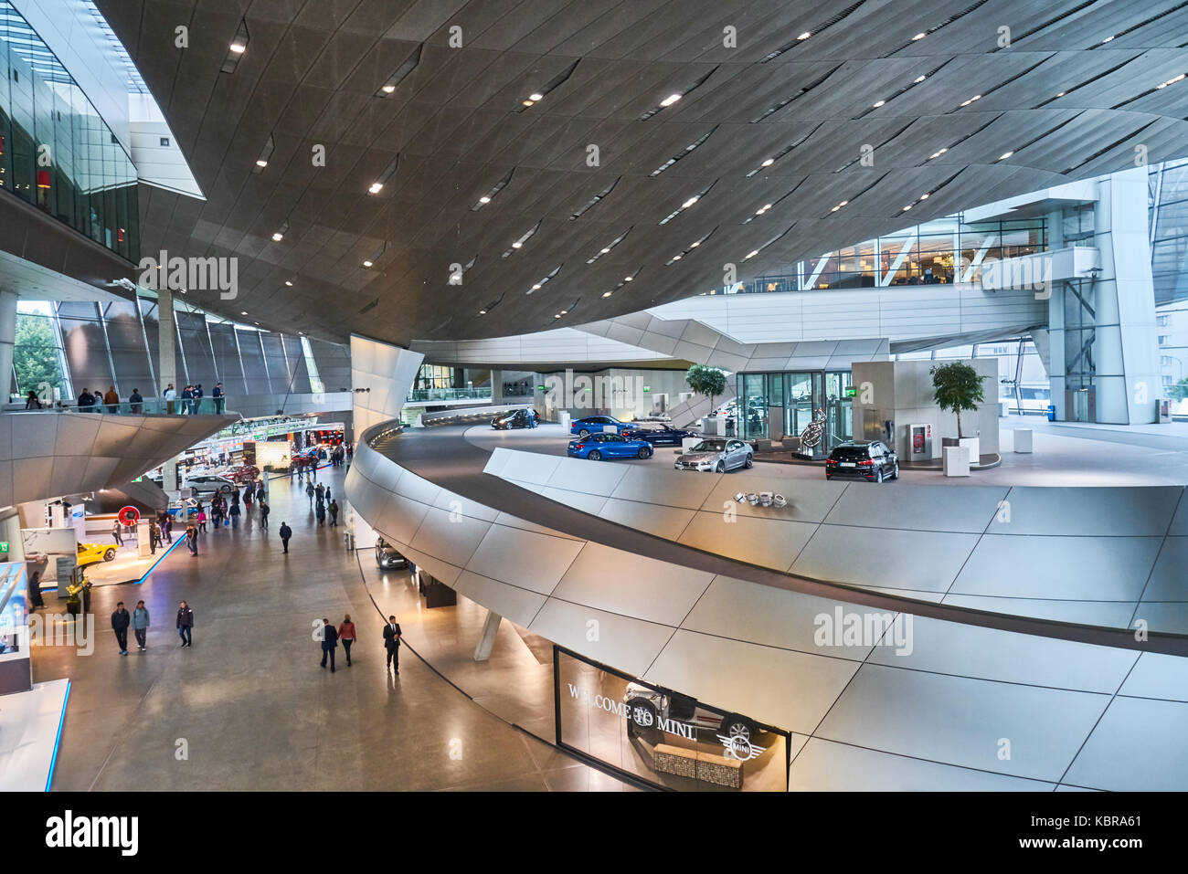 BMW World (BMW Welt) in Munich, Germany. BMW World is a multi-functional customer experience and exhibition facility - Stock Image
