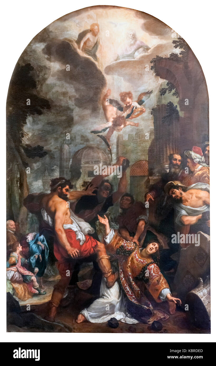 The  Martyrdom of Saint Stephen by Cigolo (Lodovico Cardi - 1559-1613), oil on canvas, 1597. - Stock Image