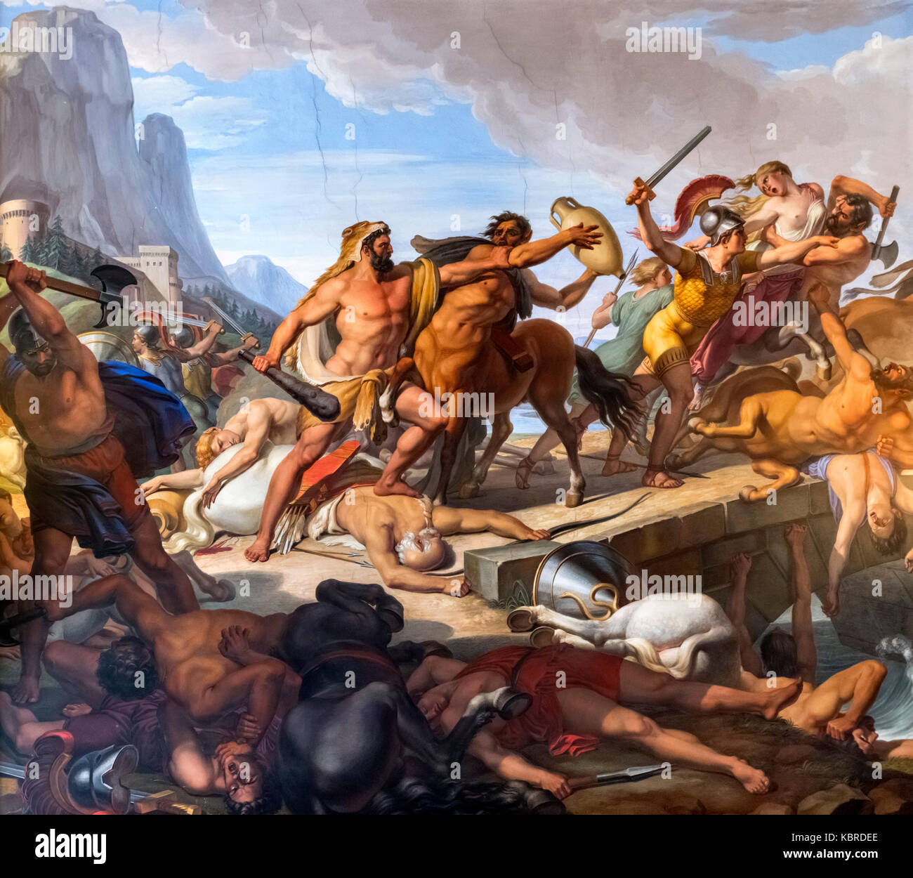 Hercules Fighting the Centaurs by Pietro Benvenuti (1769-1844), c.1817-1829 - Stock Image