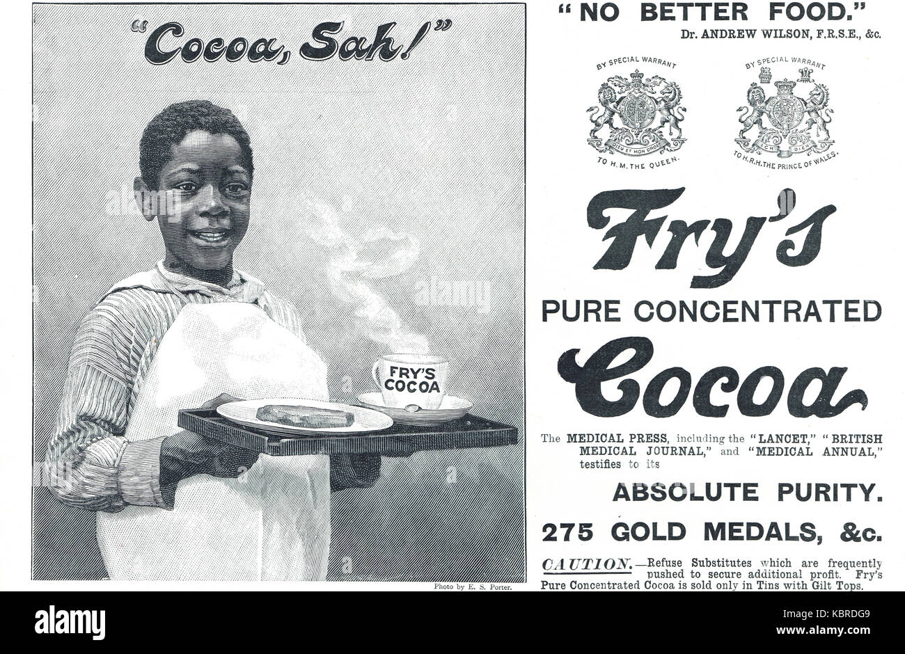 Fry's Concentrated Cocoa advert, 1899 - Stock Image