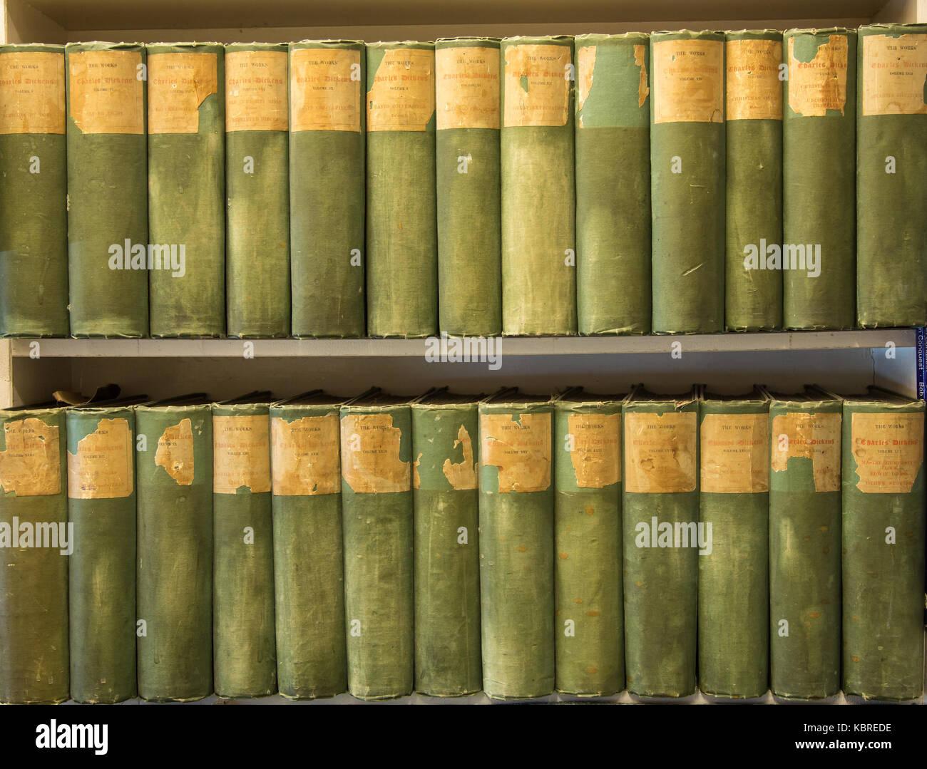 Books in secondhand bookshop Stock Photo