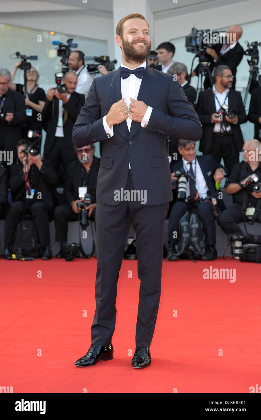 74th Venice Film Festival - 'Downsizing' - Premiere  Featuring: Alesandro Borghi Where: Venice, Italy When: - Stock Image