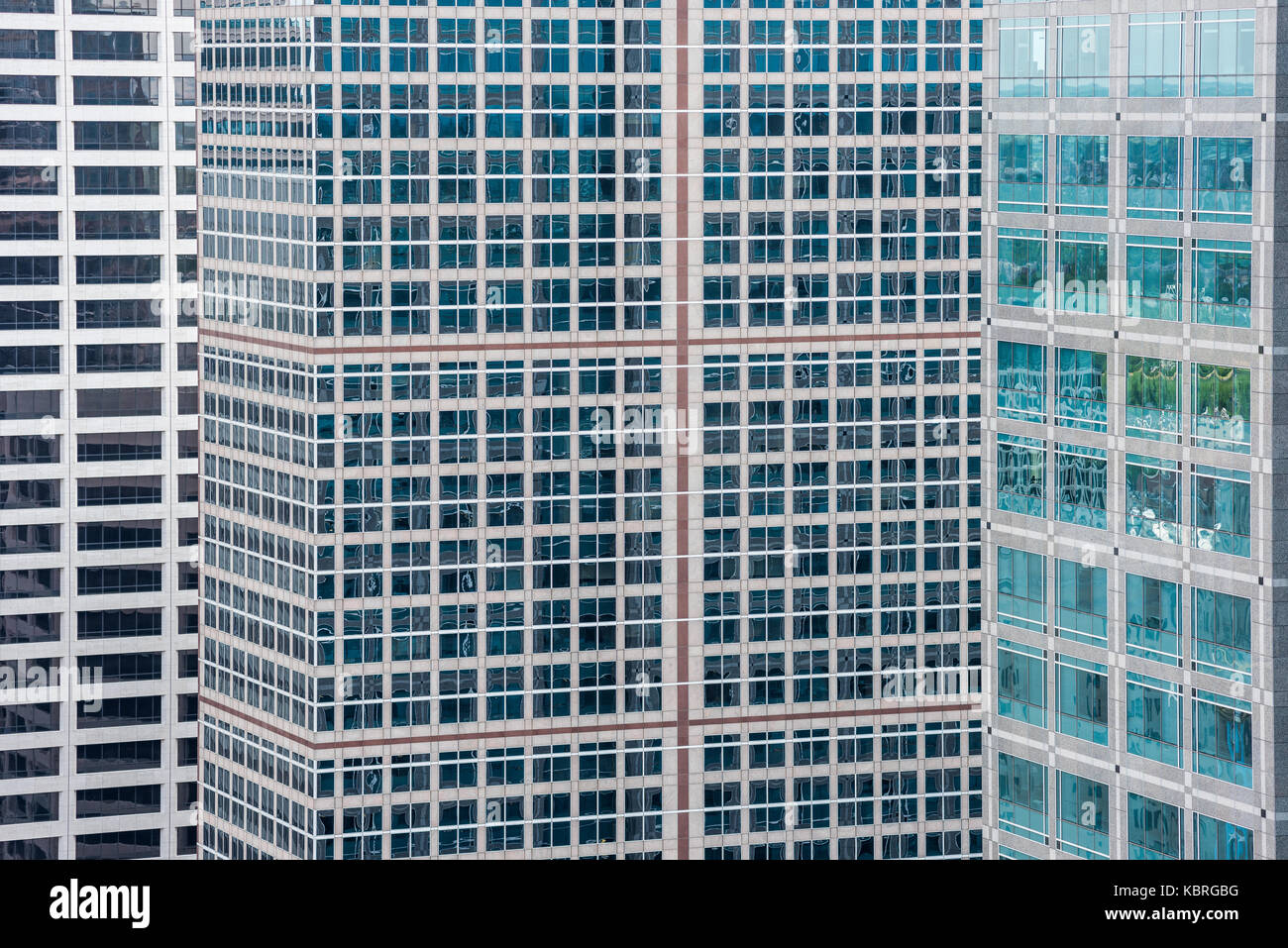 Abstraction of high-rise downtown office buildings. - Stock Image