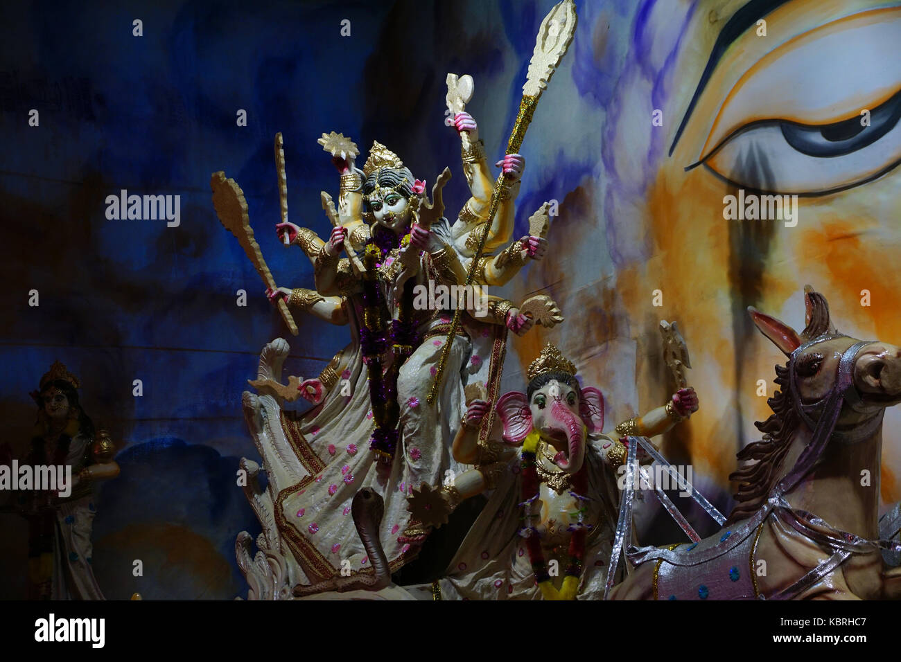 The  magnificent Idol Goddess Durga  On the occasion of Durga Puja Festival - Stock Image