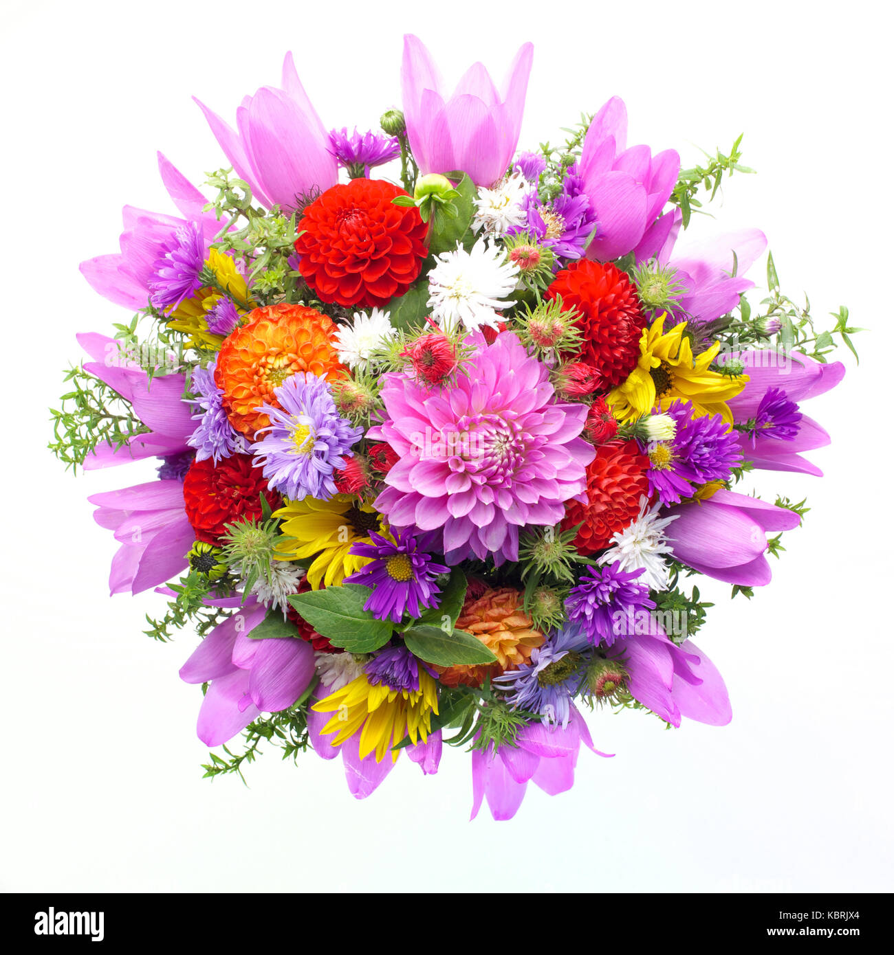 Bouquet of flowers top view isolated on white background stock photo bouquet of flowers top view isolated on white background izmirmasajfo