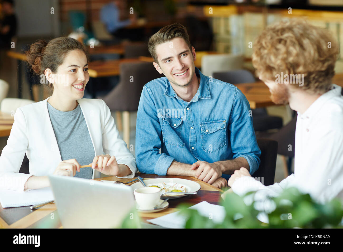 Listening to opinion - Stock Image