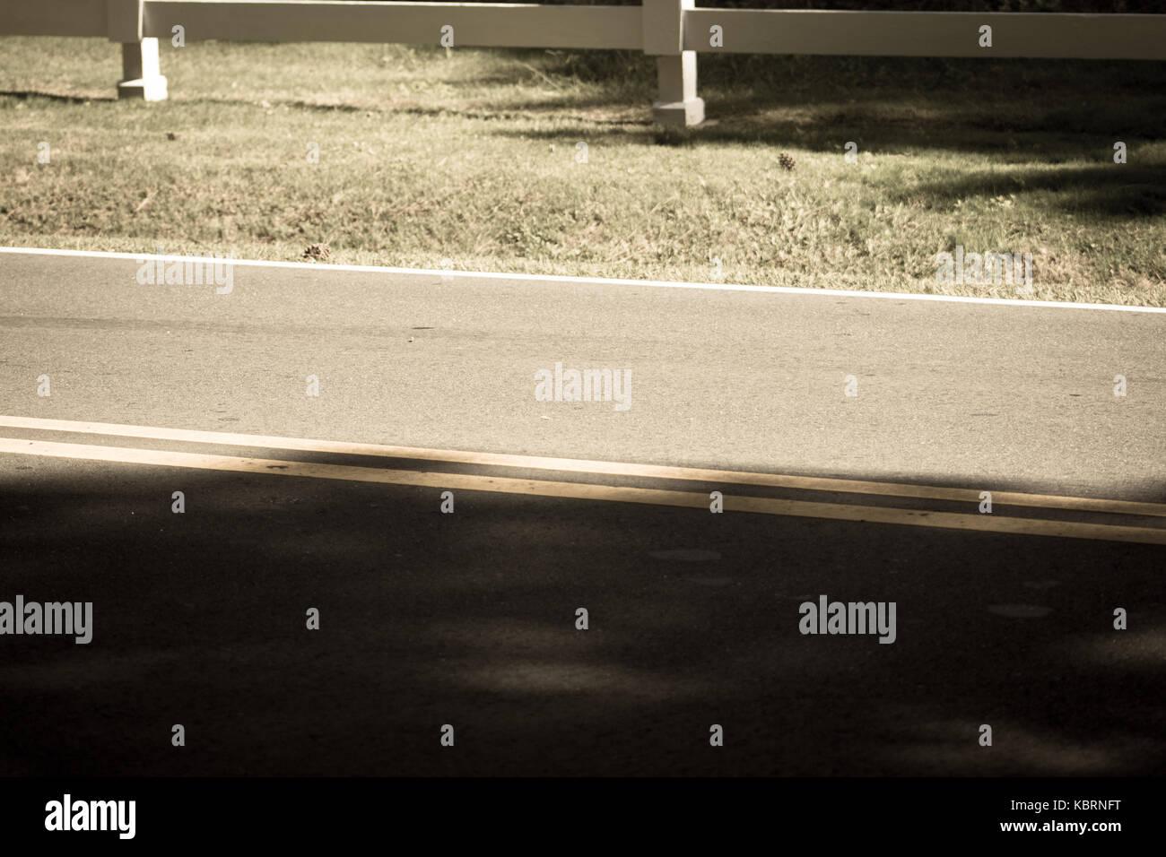 Empty road - Stock Image