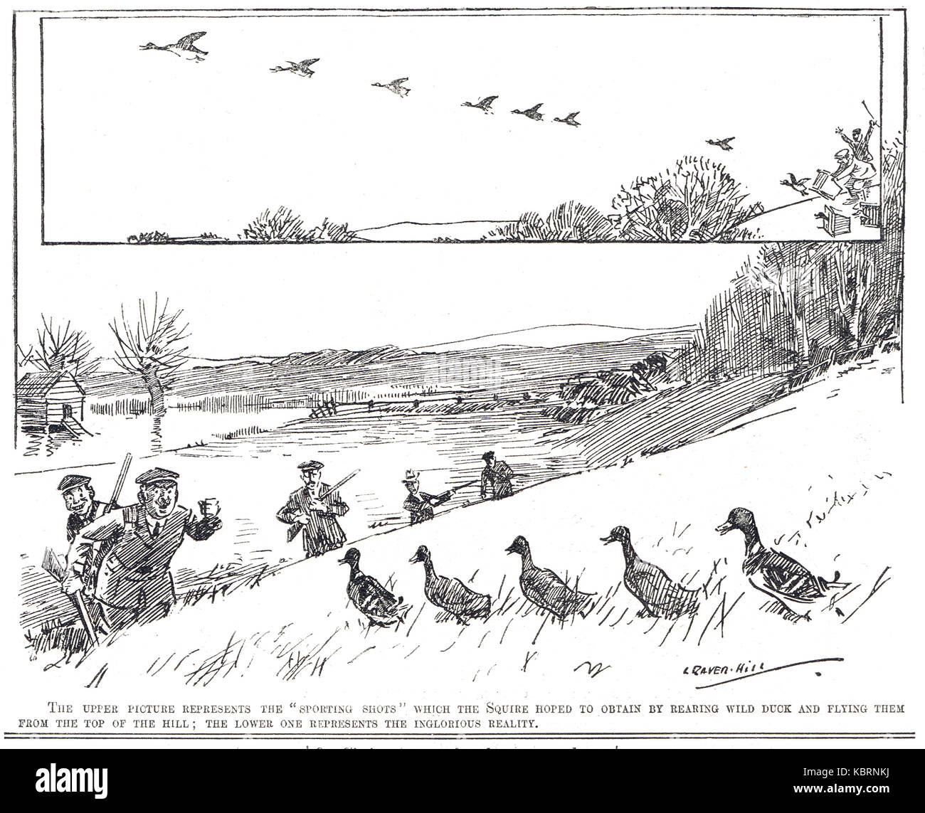 Parody of the Glorious Twelfth, Punch 1909 - Stock Image