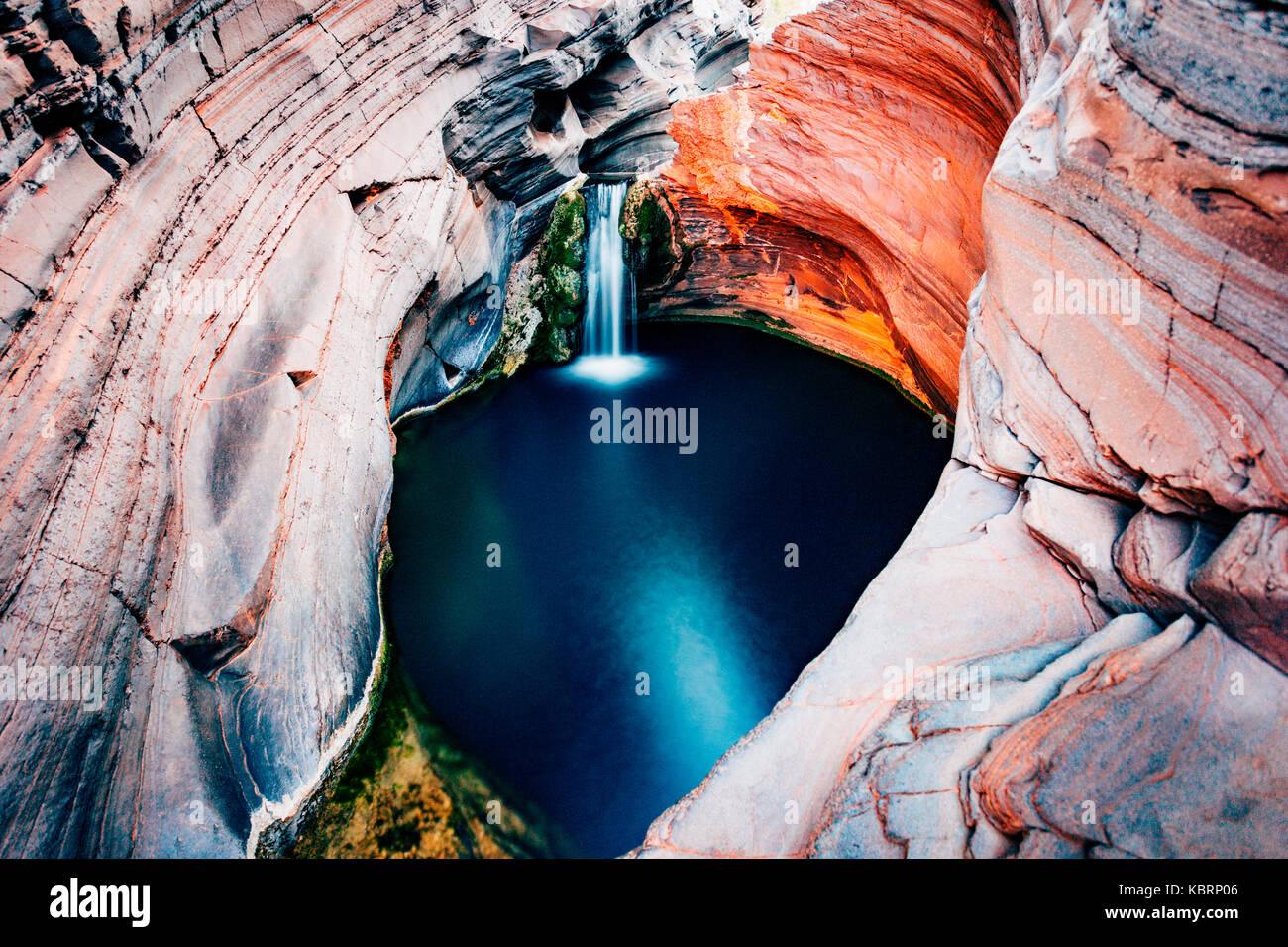 Hamersley Gorge, Spa Pool, Karijini National Park, North West, Western Australia Stock Photo