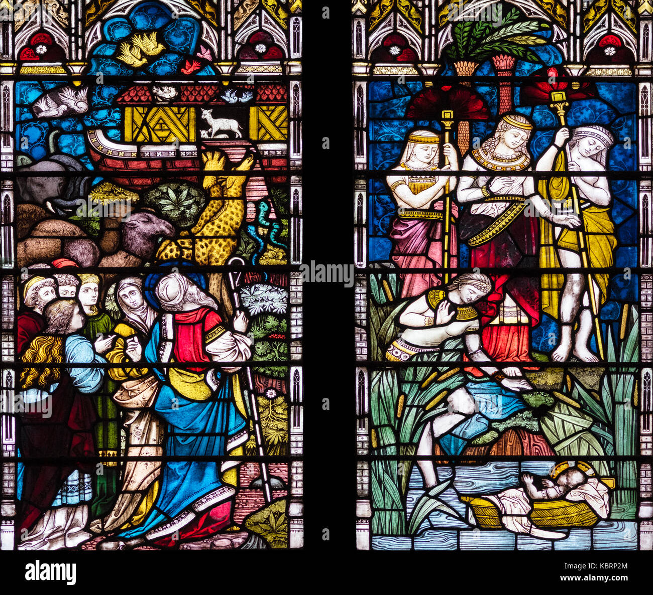 The preservation of life, Clayton and Bell 1880, Hull Minster, United Kingdom - Stock Image
