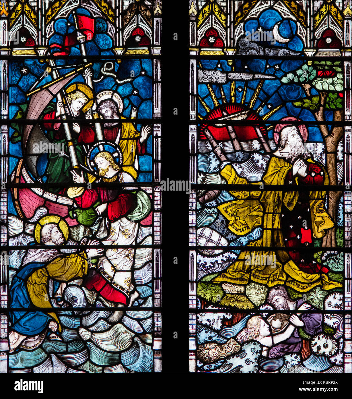 Faith and Hope in Adversity, Clayton and Bell 1880, Hull Minster, United Kingdom - Stock Image
