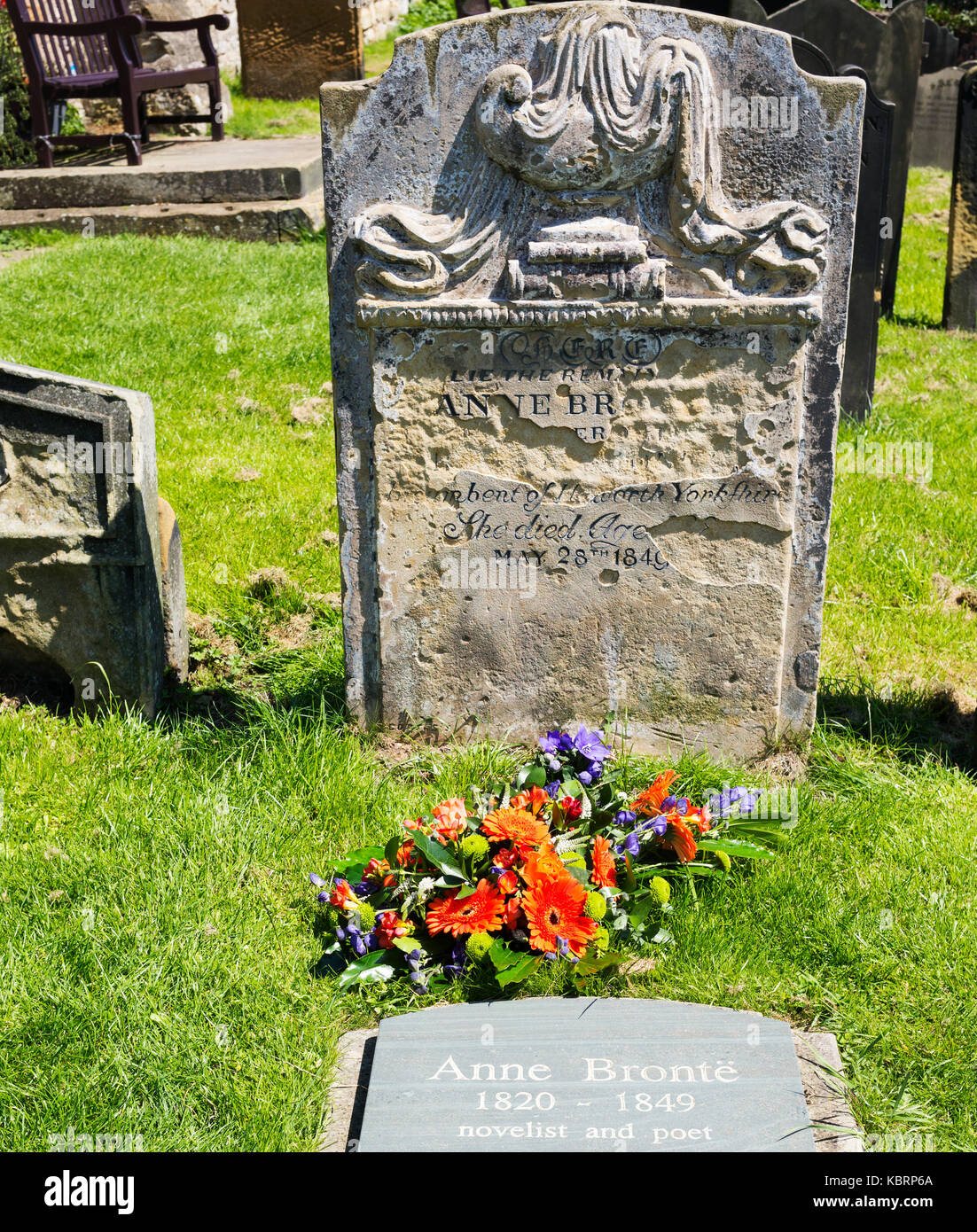 Anne Bronte's final resting place - Stock Image