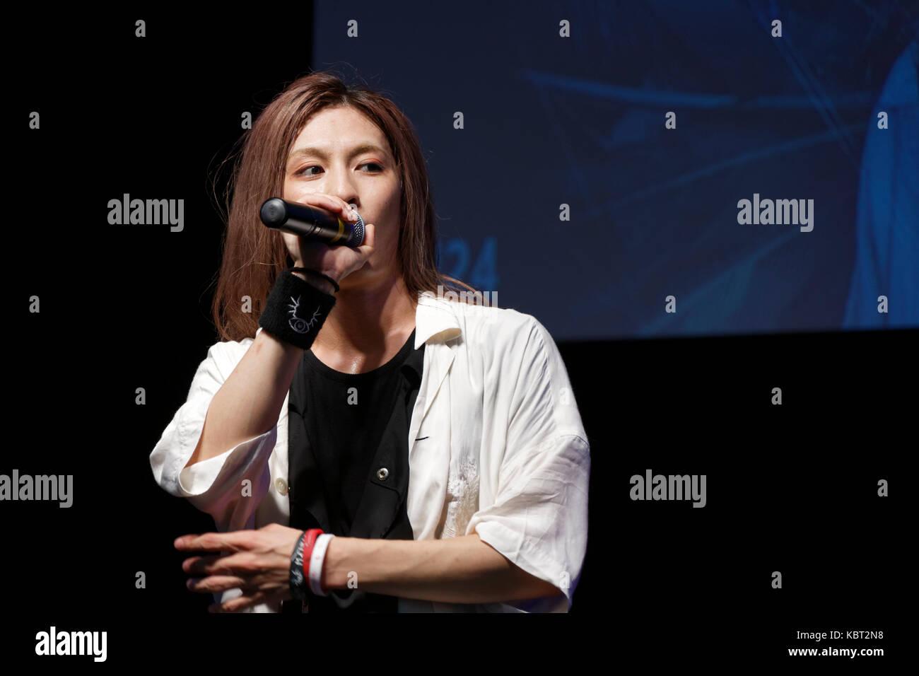 Paris, France, 30th Sep 2017. Singer S!N attends the 24th édition Paris Manga Sci-Fi Show. Credit: Bernard - Stock Image