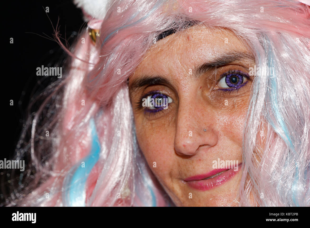 Paris, France, 30th Sep 2017. Portrait of Cosplay fan during the 24th édition Paris Manga Sci-Fi Show. Credit: - Stock Image
