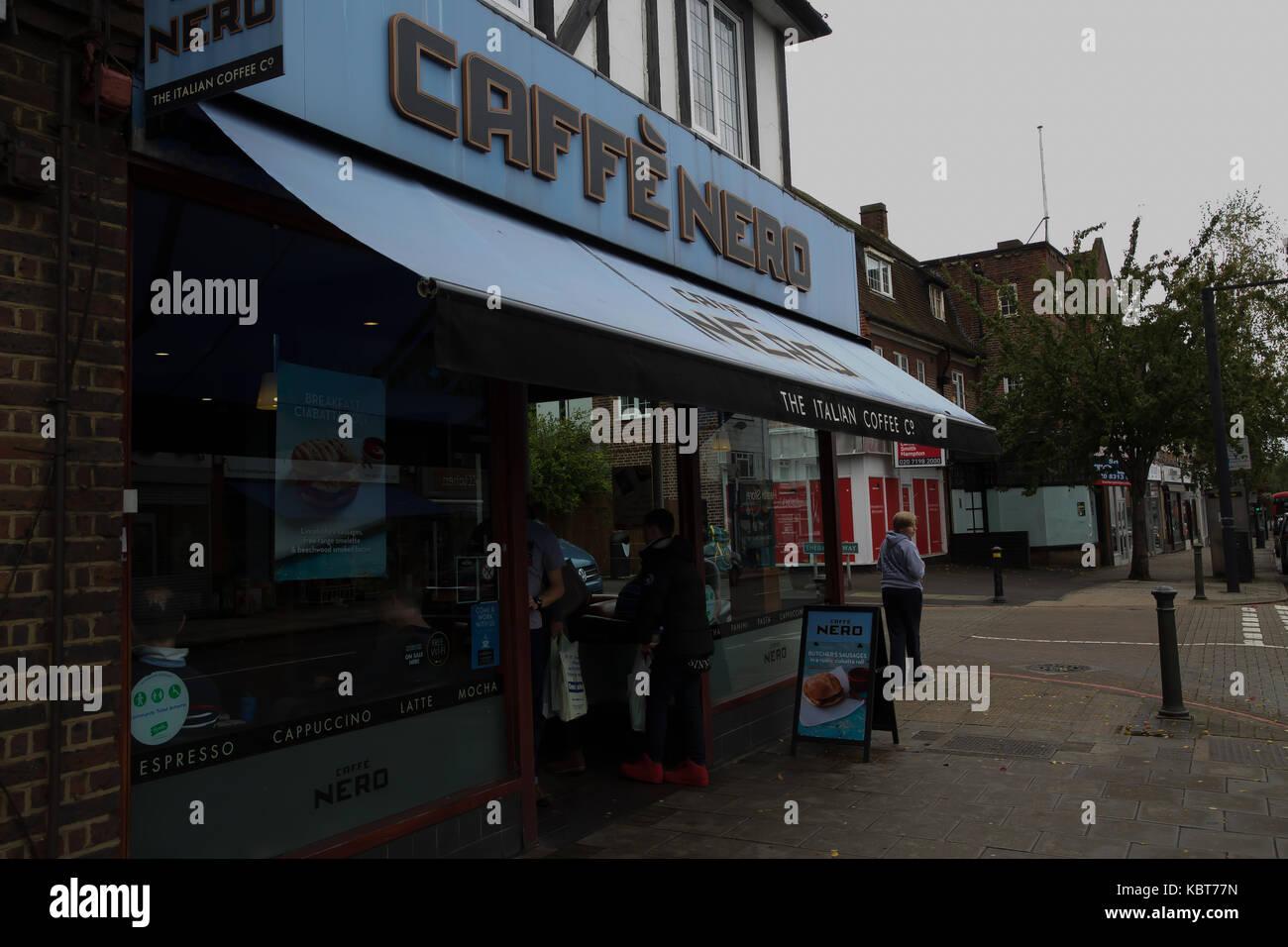 West Wickham, UK. 1st Oct, 2017. International Coffee Day Credit: Keith Larby/Alamy Live News - Stock Image