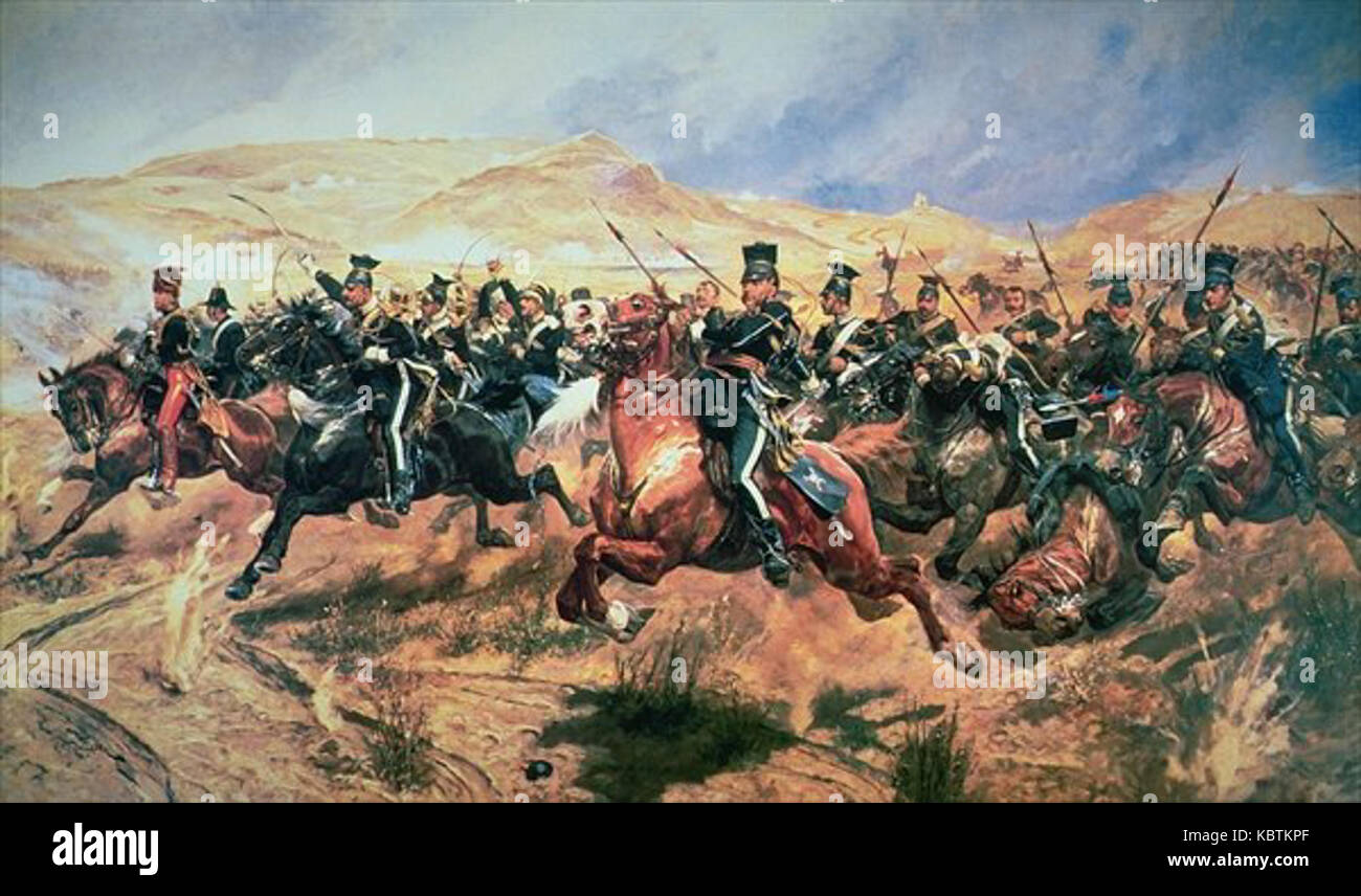 Charge of the Light Brigade - Stock Image