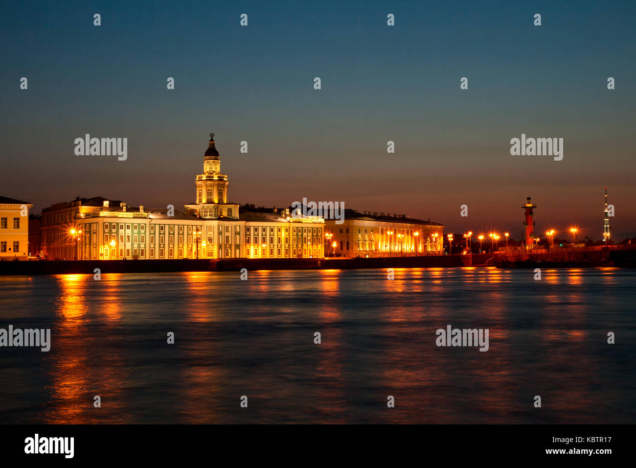 White night in Saint-Petersburg, city landscape - Stock Image