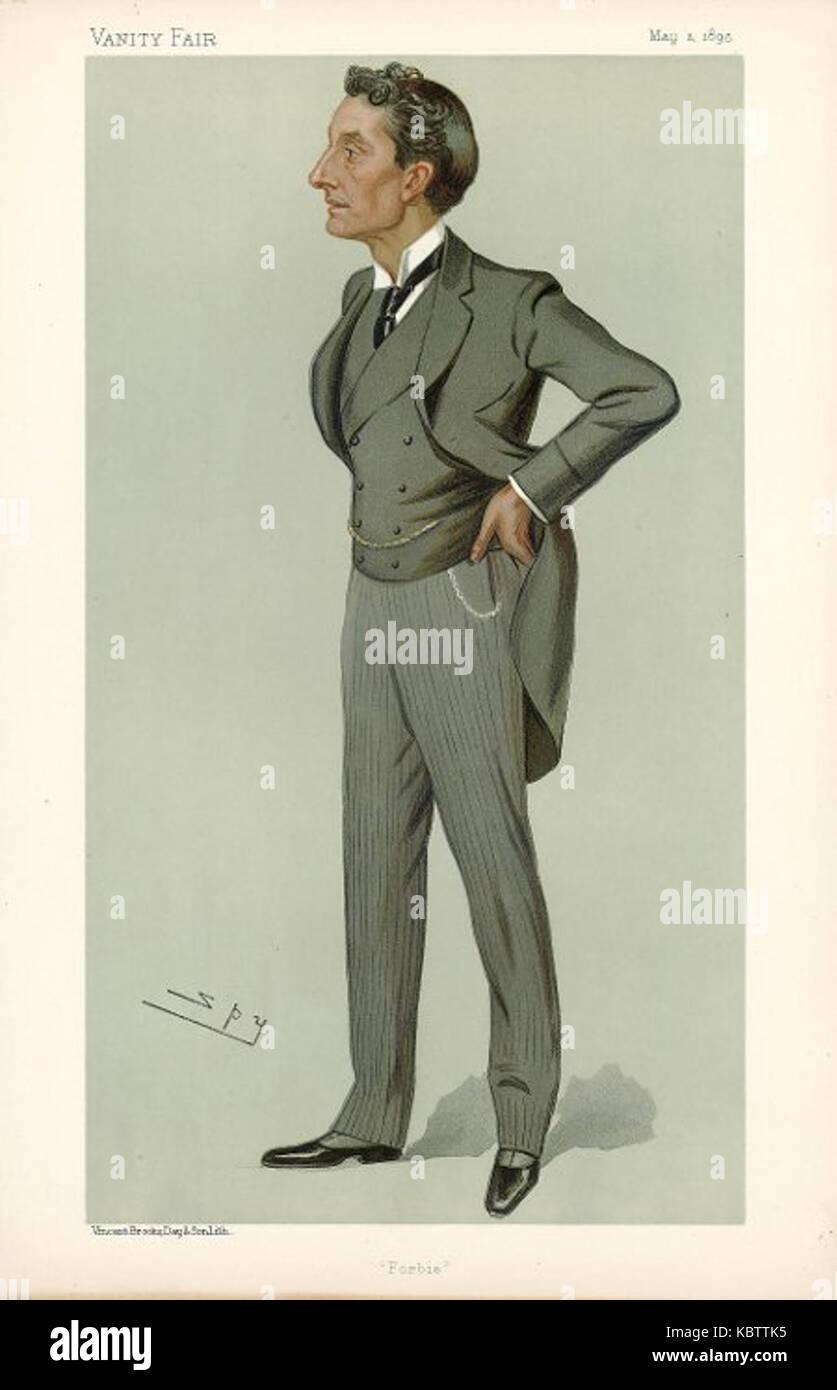 Johnston Forbes Robertson, Vanity Fair, 1895 05 02 - Stock Image