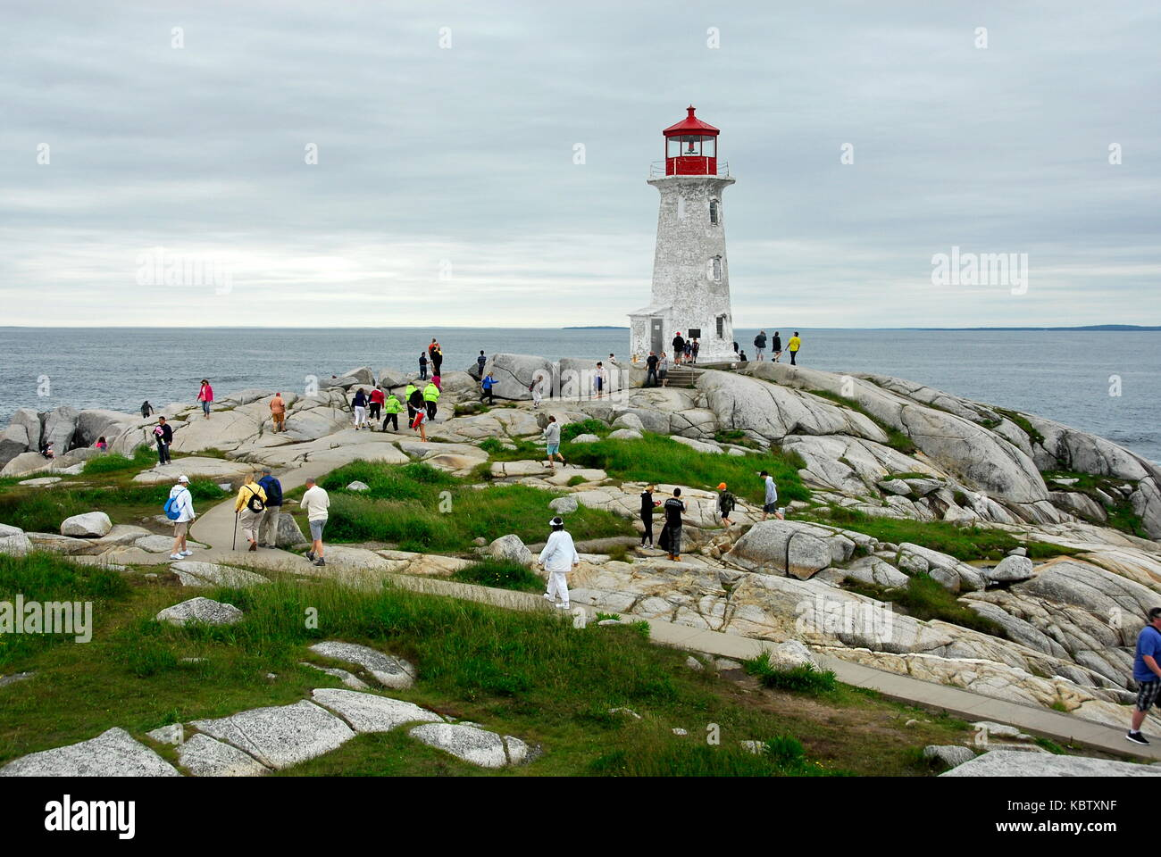 Peggy's Cove Lighthouse at Peggy's Cove on the eastern shore of St