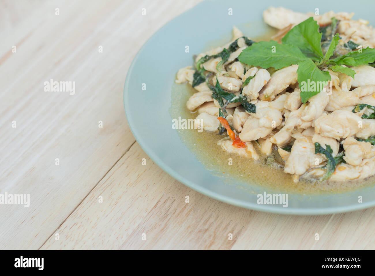 Spicy Thai Basil Chicken Stock Photos & Spicy Thai Basil Chicken ...