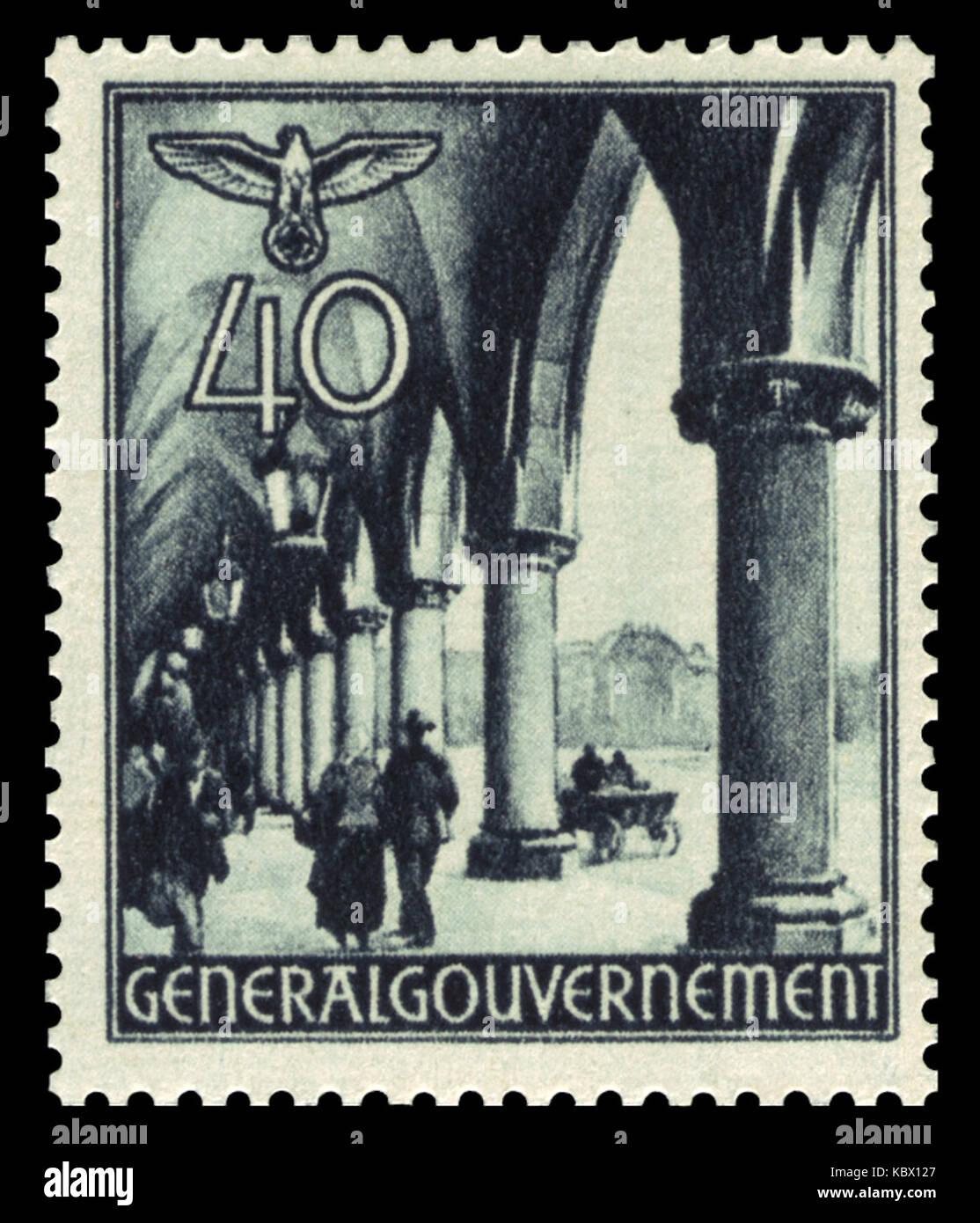 Generalgouvernement 1940 47 Arkaden der Krakauer Tuchhallen Stock Photo