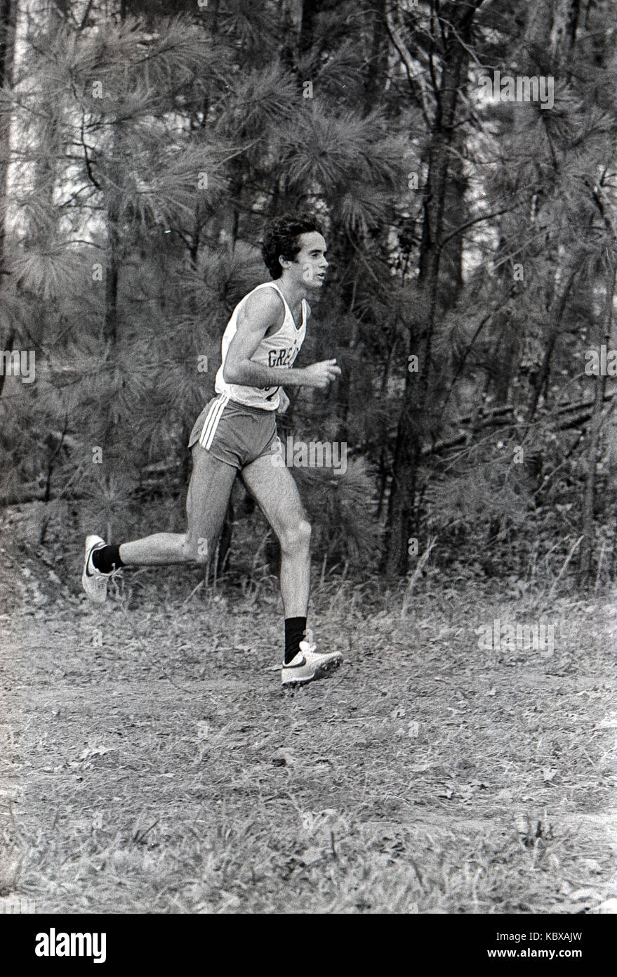Alberto Salazar competing in the 1979 AAU Cross Country Championships. - Stock Image